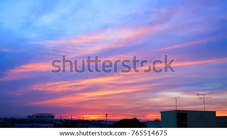 Twilight sky background with Colorful sky in twilight background #765514675