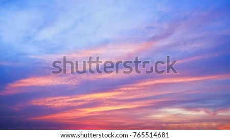 Twilight sky background with Colorful sky in twilight background #765514681