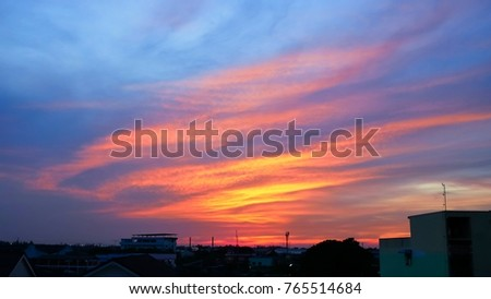Twilight sky background with Colorful sky in twilight background #765514684