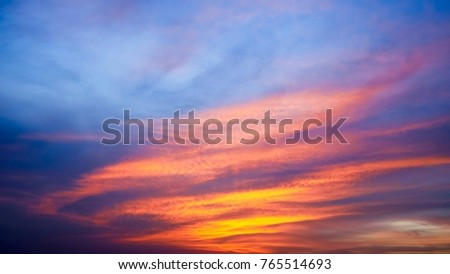 Twilight sky background with Colorful sky in twilight background #765514693