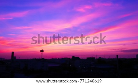 Twilight sky background with Colorful sky in twilight background, Twilight sky in town #771240619