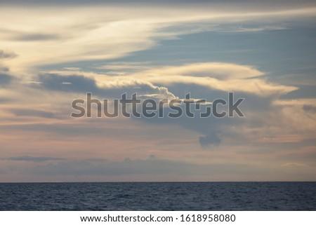Twilight sky/Colorful twilight/Beautiful twilight over the sea