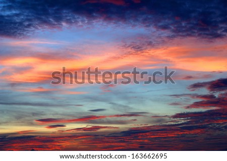 Twilight sky. In winter arrives. Beautiful sky quickly changed #163662695