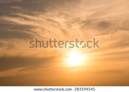 Twilight sky with orange gradient color #283194545