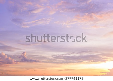 twilight sunset sky with clouds