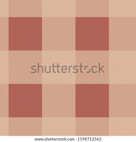 Twill brown buffalo plaid tartan background illustration.  12x12 digital paper graphic for page elements and designs.  Larger pattern in medium and darker browns Scottish tartan abstract backdrop.