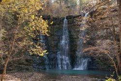 Twin Falls on a Crisp Autumn Day in Arkansas