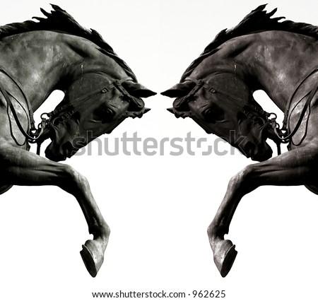 Twin horses