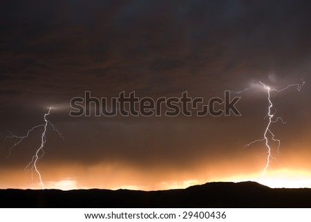 Twin Lightning Bolts