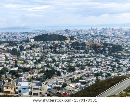 Twin Peaks San Fransico city landscape Сток-фото ©