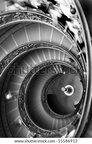 twin spiral staircase rome vatican museum italy