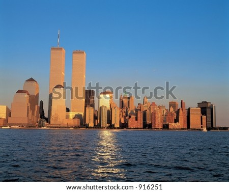 Twin Towers at Dusk