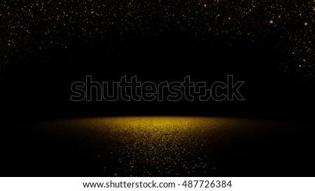 twinkling golden glitter...