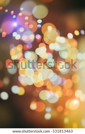 Twinkly Lights and Stars Christmas Background #531813463