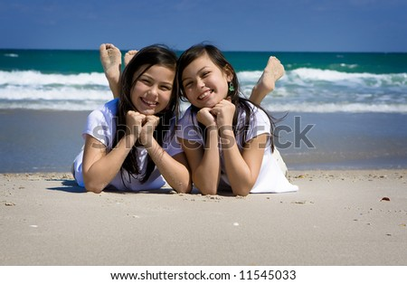 Twins at the beach