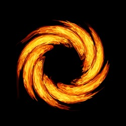 twirl motion of fire flame abstract background
