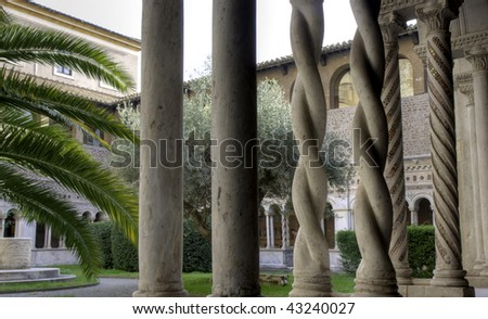 Twisted Columns, Cloister of Monastery, Basilica of St. John Lateran, Rome, Italy