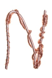Twisted copper wire in the shape of the letter N