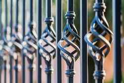 Twisted fence blurred
