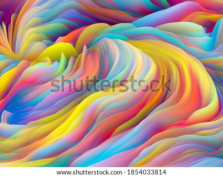 Twisted Paint. Dimensional Wave series. Design made of Swirling Color Texture. 3D Rendering of random turbulence for projects on art, creativity and design Photo stock ©