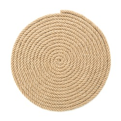 Twisted rope on white background