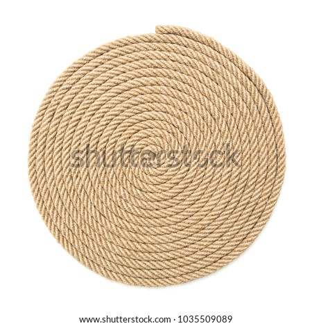 Twisted rope on white background #1035509089