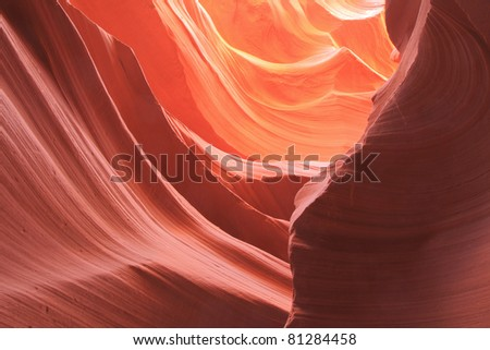 twisted sandstone walls within Antelope Canyon
