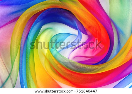 twisted twirl of organza fabric multicolour texture