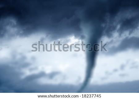 twister in stormy sky