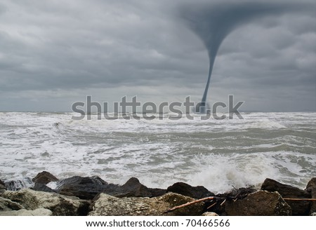 twister incoming from the sea