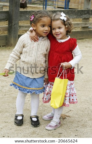 two adorable toddler girls