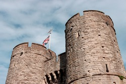 Two Ancient English Castle Towers