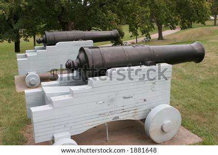 Two antique cannons