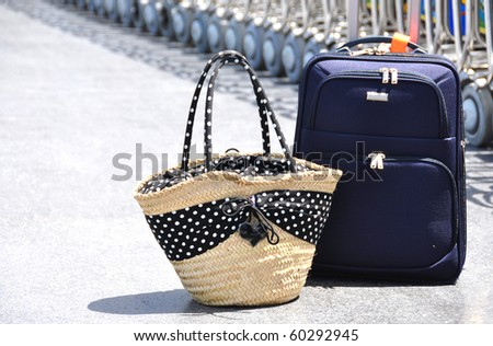 Two bags at the airport