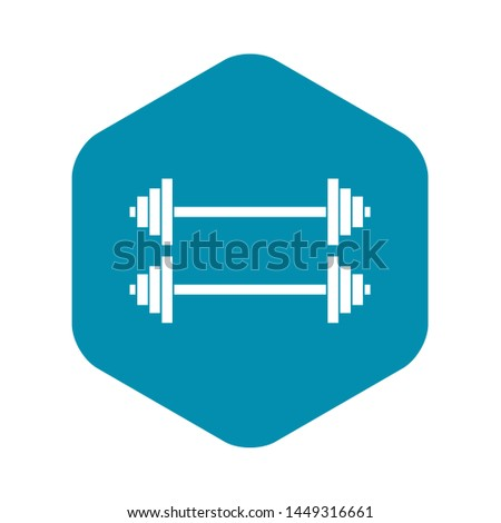 Two barbells icon in simple style isolated on white background