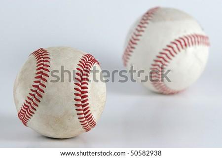 two baseball ball