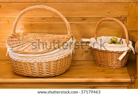 Two basket on a chest - interior