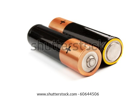Two batteries on a white background it is isolated