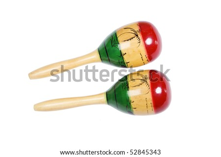 Two beautiful and colorful shakers isolated over white with clipping path
