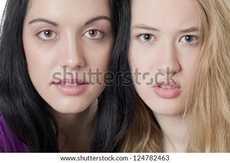 Two beautiful girl friends