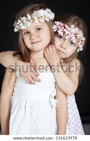 two beautiful little girls