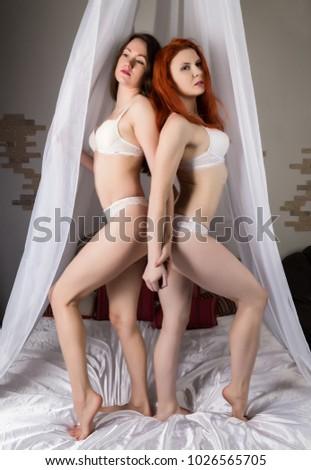 Beautiful redhead lesbians