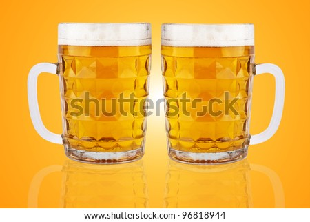 two beer mugs