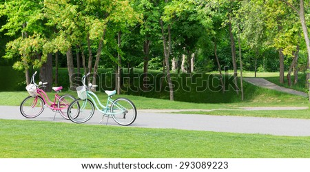 Two bicycles - Shutterstock ID 293089223