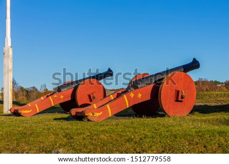 Two Big Cannons Guns in Fredrikstad Norway #1512779558
