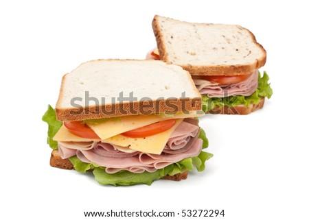 two big tasty sandwiches