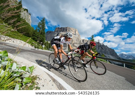 two biker by race cycling contest