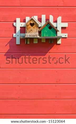 two birdhouses
