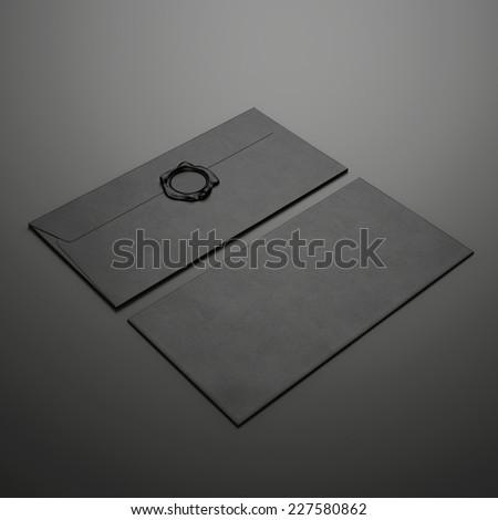 Two black envelopes