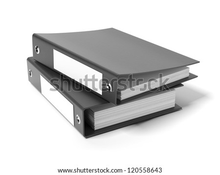 Two black ring binders
